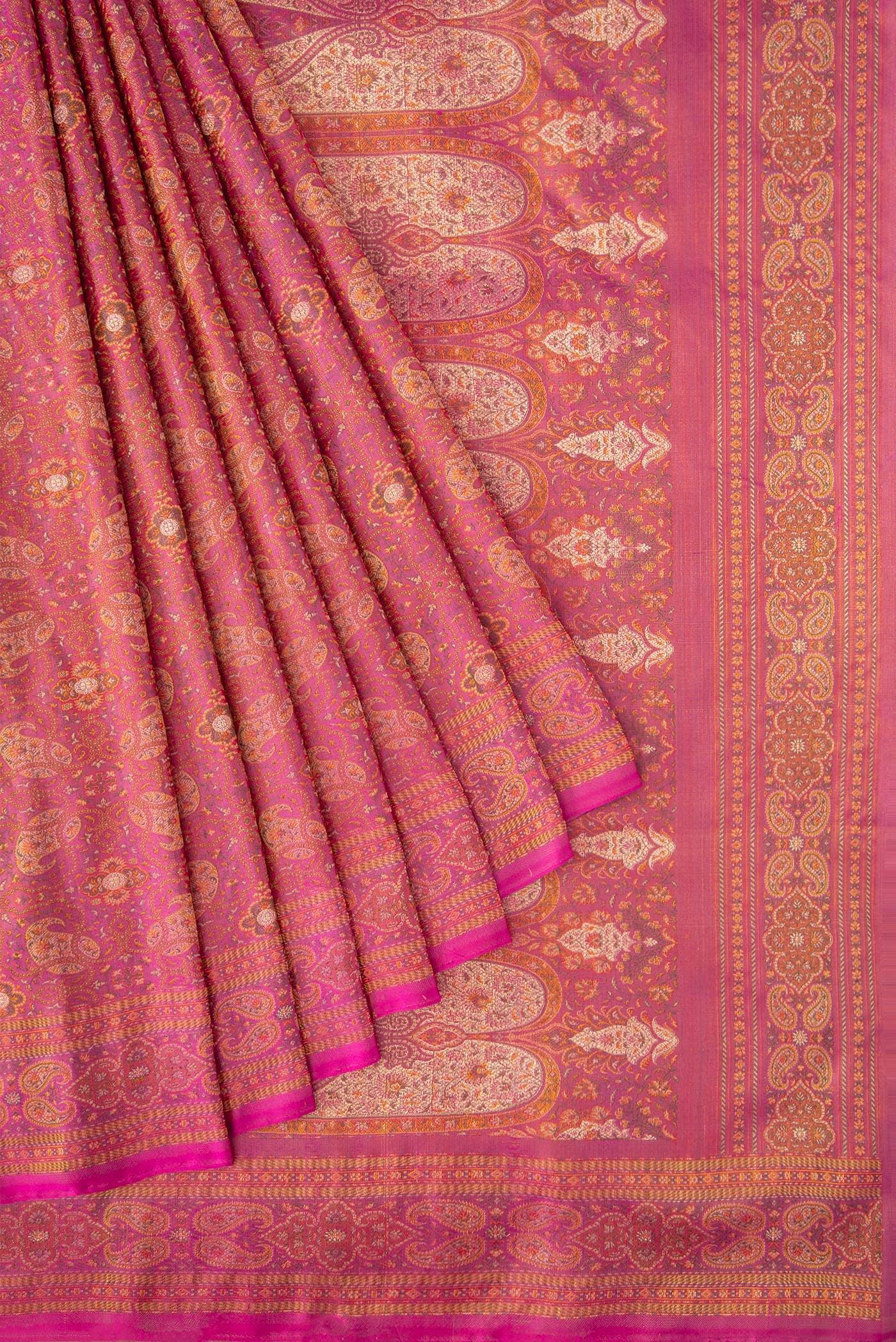 Buy Pink Banarasi Tanchoi Silk Saree Online - Women Sarees at Best Price |  Nalli